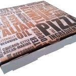 Generic TXT Print Single fold white pizza box